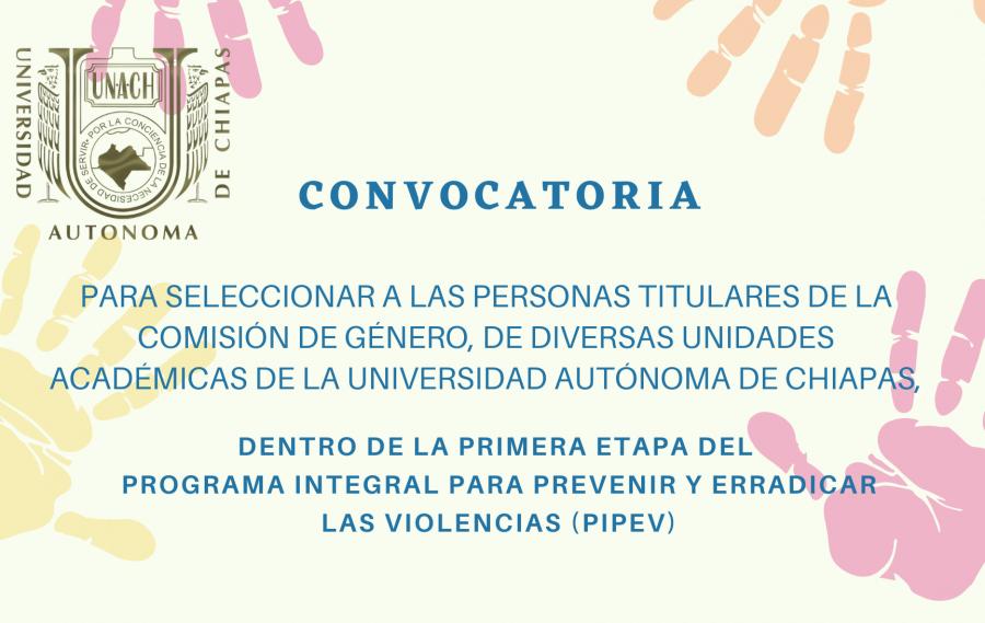 Convocatoria.- Comisión de Género