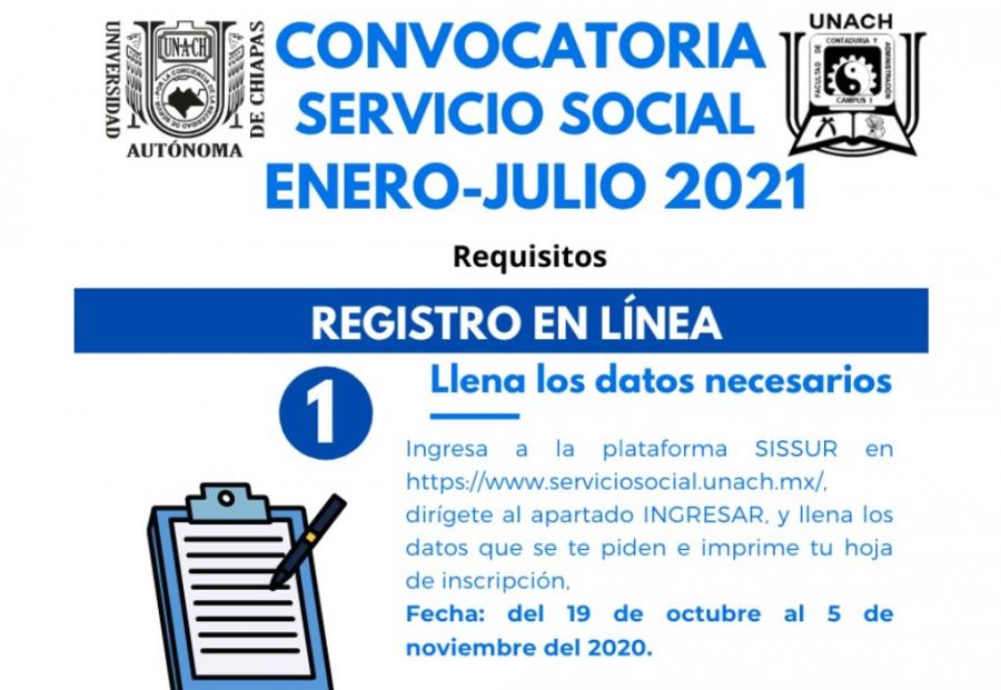 Convocatoria Servicio Social enero-julio 2021
