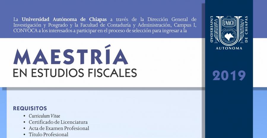 Maestría en Estudios Fiscales